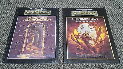 The Ruins of Undermountain - Forgotten Realms AD&D - Books & Maps only TSR 1060