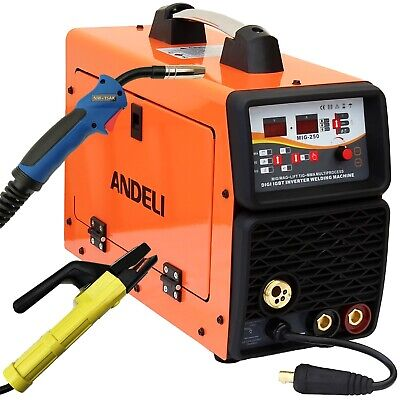 200Amp Mig/Mag/Flux/Tig/Mma/Arc 5 In 1 Dc Inverter Welder Machine + Accessories