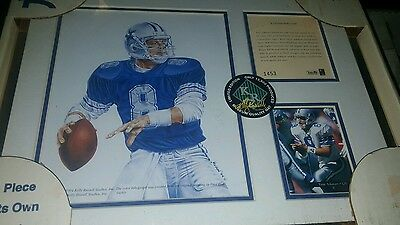 TROY AIKMAN FRAMED Kelly Russell Lithograph Print Original Art LIMITED EDITION