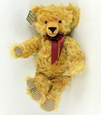 Merrythought Teddy Bear Gold Shaggy Mohair Artist Oliver Holmes LE  0129 of 2500