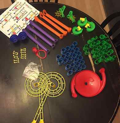 QUERCETTI Italy MARBLE RUN works 75 pieces + 8 marbles + instructions STEM toy