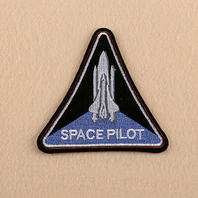 Space Polit Sew Iron On Patch Fancy Dress Astronaut Embroidered Badge Applique