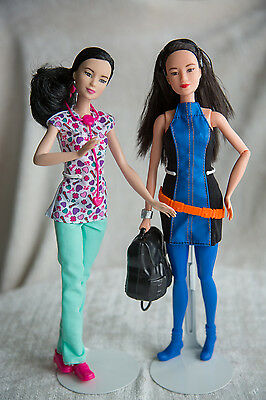 Lot of 2 Asian Barbie Dolls - Fashionista and other -  MINT
