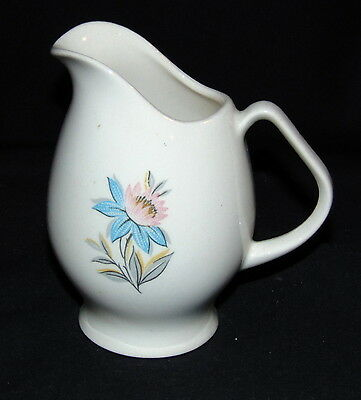 "Steubenville FAIRLANE *TURQUOISE/PINK FLOWER* 3 1/2"" CREAMER*"