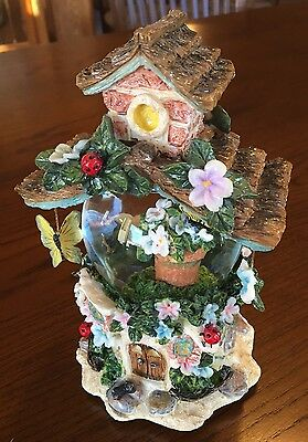 Beautiful Dreamer Faerie Fairy Treehouse Snow Globe/Music Box Mother's Day Gift!