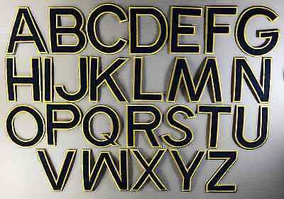 DIY English Alphabet Letter A-Z Embroidered Patch Applique Badge Iron-on/Sew On