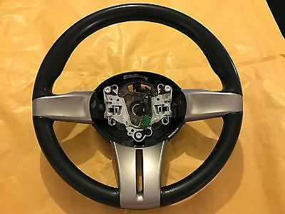Bmw Z4 E85 Black Leather Steering Wheel With Matt Grey Trims 6758158