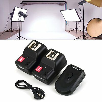 Wireless 4 Channels Practical Flash Trigger Transmitter With 2 Receivers Set EW
