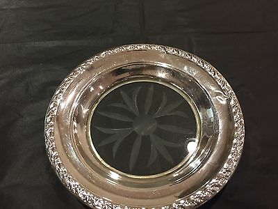 Sterling Silver And Crystal Wine Coaster