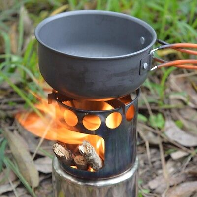 Portable Stainless Steel Stove / Outdoor Wood Stove /Camping / hiking