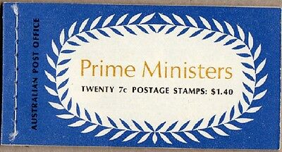 1972 Stamp Booklet $1.40 Prime Ministers G72/2 Wax Interleaves  Stamps Muh
