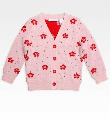 Country Road Girls Pink Daisy Cardigan Bnwot