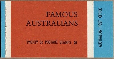 1968 Stamp Booklet $1 Famous Australians G68/3 Wax Interleaves Stamps Muh