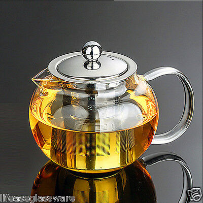 Vintage Pyrex Glass TEA POT Teapot W. Infuser&Lid Double Wall Cups Candle Warmer