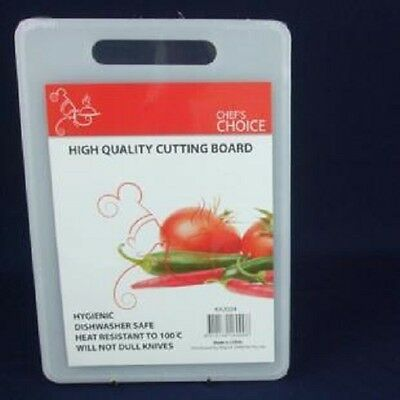 20 x 30CM WHITE CHOPPING CUTTING BOARD - DISHWASHER SAFE - KITCHEN COOKING