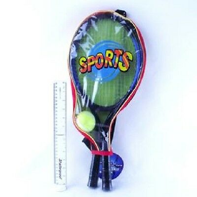 Tennis Racquet And Ball Play Set - 2 Metal Tennis Racquets And 1 X Tennis Ball