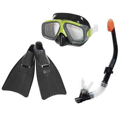 Surf Rider Snorkel with Hypoallergenic Mask and Flippers Diving Kit Adult Size