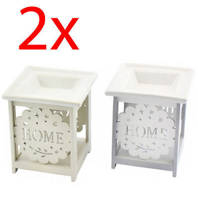 2 X Home Oil Burner Warmer Fragrance Gift Set Granules Melt Wax Home Aroma New