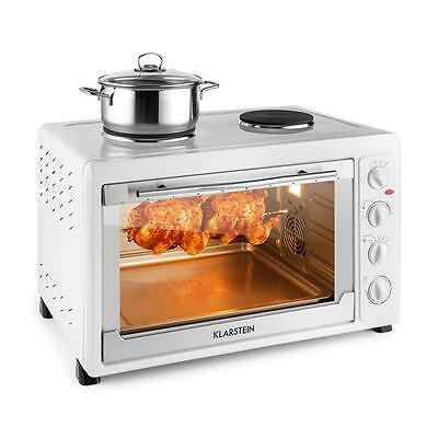 Klarstein Commercial 60 Mini Oven 2500W + 1600W 60 L Stainless Steel White