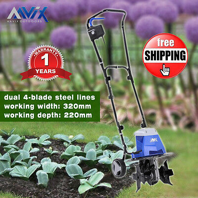New 320mm Electric Cultivator & Tiller Electric Rotary Hoe Garden Mini Tiller