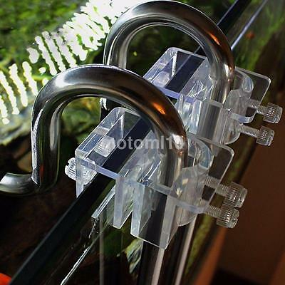 1pcs Acrylic Pipe Holder Fix Bracket Hook Aquarium Lily Pipe filter Accessory CA
