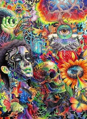 PSYCHEDELIC TRIPPY ART Image A4 Poster Gloss Print Laminated (New)