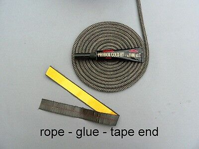 Stove Door Gasket - Round Fiberglass  Rope  Graphite High Quality ! 4 to 14mm