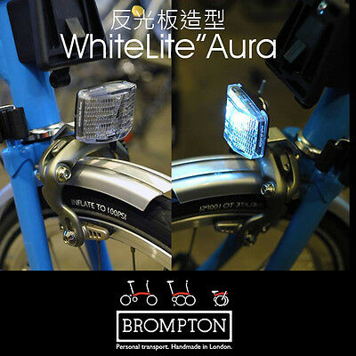 Free Shipping Brompton Bicycle Front LED Light Reflector