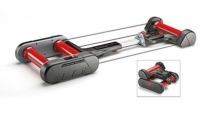 Elite home trainer floating rollers quick-motion black / red