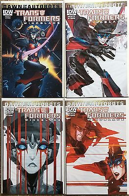 Transformers IDW Windblade Issues 1-4 Run Comic Book Set Dawn Of The Autobots