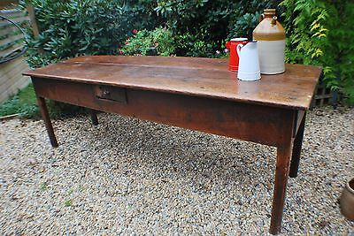 French FARMHOUSE Country large DINING KITCHEN TABLE - stunning vintage item