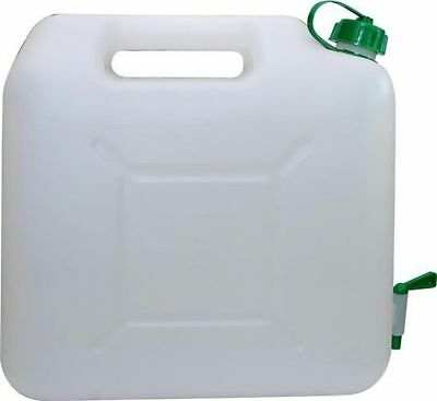Jerry Can Water Tank 15 L Ltr Litre Carrier Tap Spout White Food Grade Container