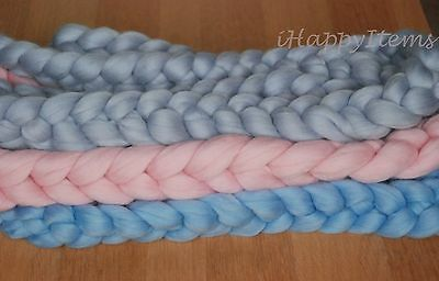 10ft Chunky Merino Wool Braid Newborn Photo Prop Basket Filler