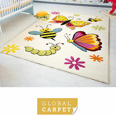 Kids Rug Little Carpet Childrens Rugs Collection Spring Bees Colourful Play Mat