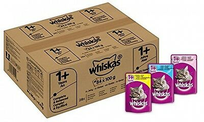 Whiskas Wet Cat Food Pouch for 1+ Adult Mixed Selection in Jelly 84 x 100g