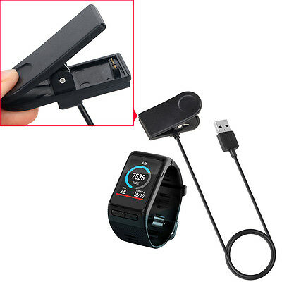 UK NEW 1M USB Data Charger USB Charging Clip Cable For Garmin Vivoactive HR