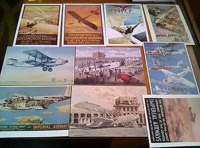 Vintage Air Travel Posters   Repro Advertising Postcards