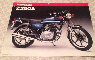 Kawasaki Z250A  brochure, little brother to the Z1000 and Z1R