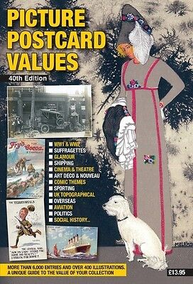 PICTURE POSTCARD VALUES  -  LATEST PRICE GUIDE & CATALOGUE -  Free UK Postage !