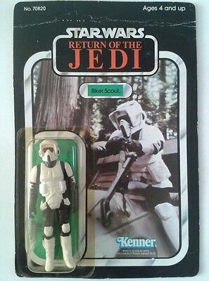Star Wars Return Of The Jedi  Biker Scout Figure Vintage Moc Kenner Original