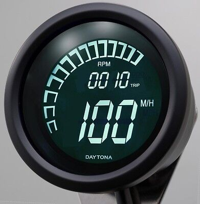 Daytona Digital Speedometer Speed, RPM tacho connects to electronic speed sensor