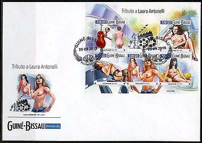 Z08 GB15607a GUINEA-BISSAU 2015 Laura Antonelli FDC First Day Cover ETB