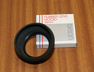 55mm Rubber Lens Hood by Orion. Brand new. To fit 55mm thread. ORN127