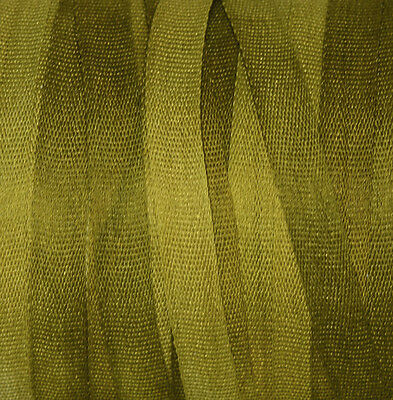 Silk Ribbon for Embroidery 4mm - 3 meters Citrus