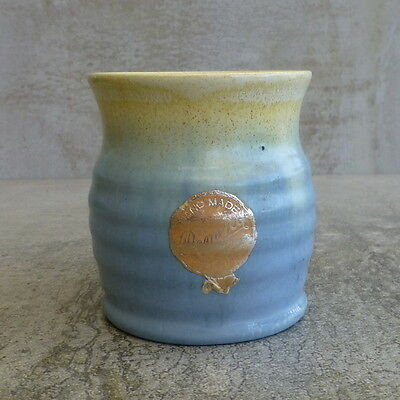 Vintage Remued Pottery Cup vase Drip glaze Australian Pottery numbered small