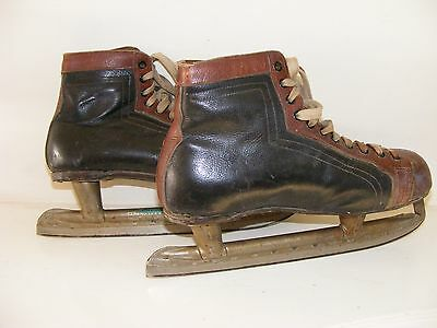 Vintage Leather Ice Skate Boots
