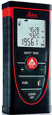 New Leica Disto D210 Laser Distance Measurer 0.05 - 80M Range 1mm Accuracy