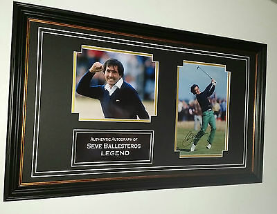 *** Rare Seve Ballesteros Signed PHOTO PICTURE Autograph Display ***