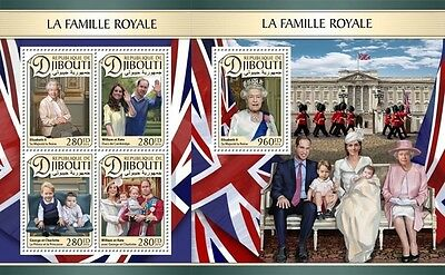 Z08 IMPERFORATED DJB16607ab DJIBOUTI 2016 Royal Family MNH ** Postfrisch Set