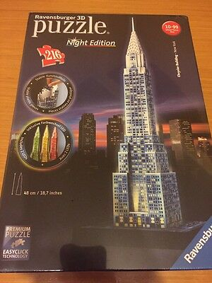 Ravensburger Italy 125951 - Puzzle 3D Chrysler Building Night Edition,